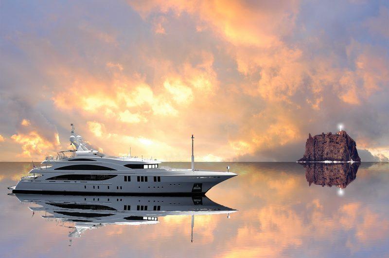 luxury yacht in sea