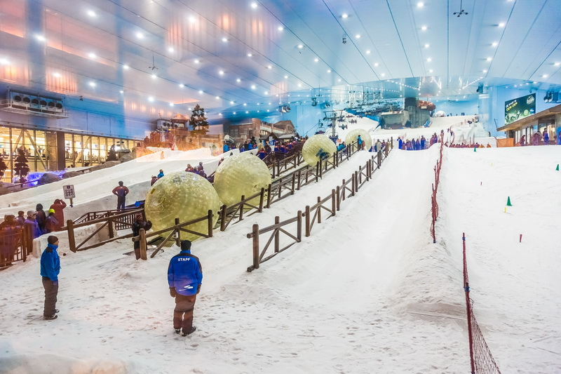 Ski Dubai a view from the bottom