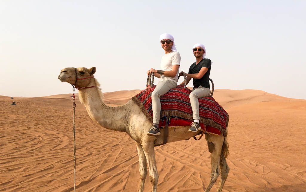 Dubai riding a camel