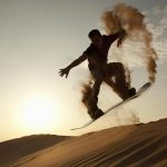 Extreme sanboarding in dubai