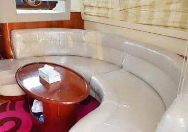 Luxurious 42 Feet Yacht Living Room