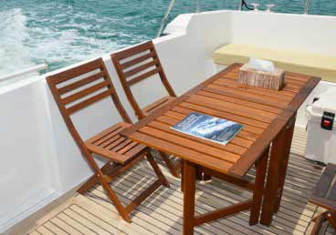 45 Feet Yacht Comfortable Sun Deck Chairs,Comfortable Seating Areas of 45 Feet Yacht