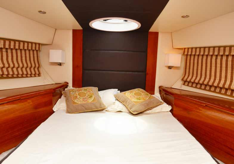 Beautiful Bedrooms on the 50 feet yacht