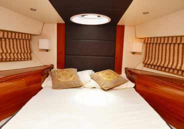 Beautiful Bedrooms in 50 Feet Yacht