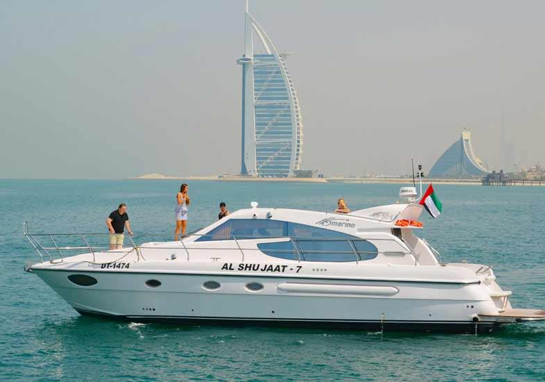 Family cruising around Burj Al Arab