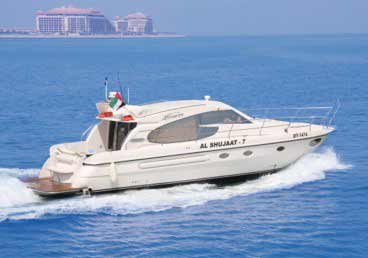50 Feet Luxury Yacht Cruising around Dubai Marina