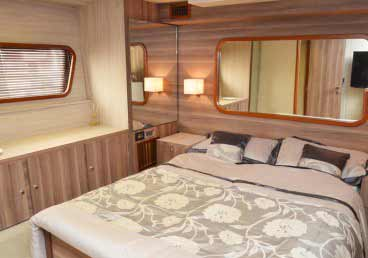 Lavish Bedrooms in 70 Feet Yacht