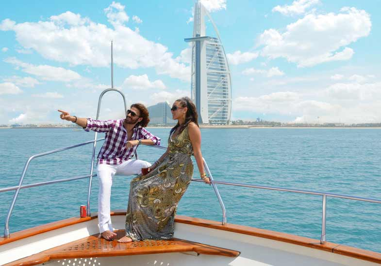 Spend a day with your loved one cruising around The Palm and Burj Al Arab