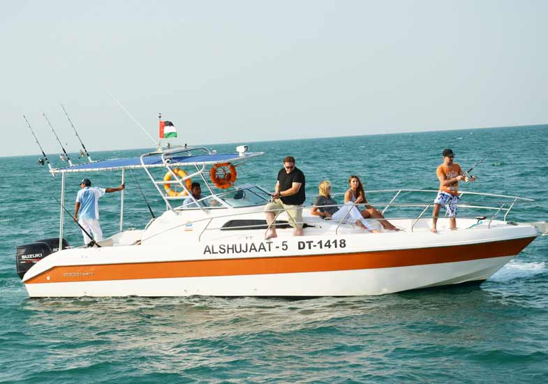 Luxury Boats for Deep Sea Fishing in Dubai