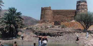Al Heil castle under the Hajar Mountains
