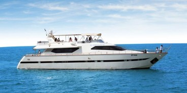 The luxurious 85 feet yacht