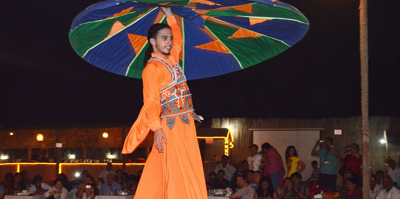 Tanura Dance Performance at Campsite