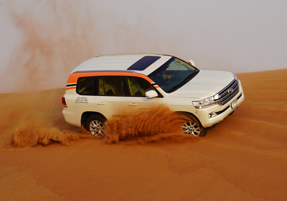 Dune bashing at Lahbab Desert