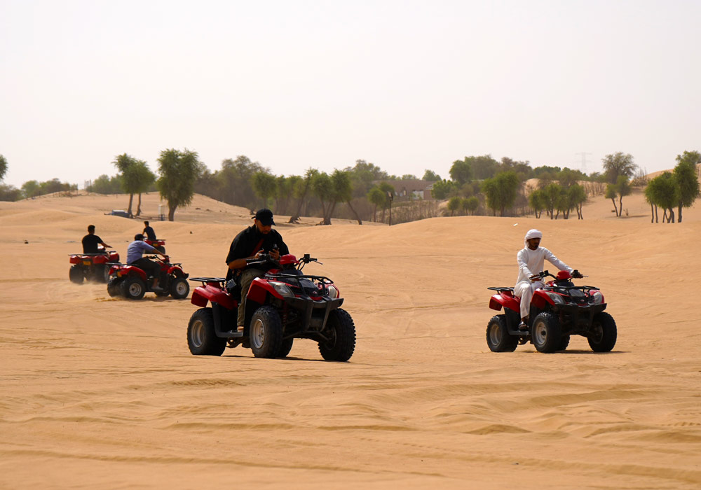 Driving buggies after an awesome dune bashing