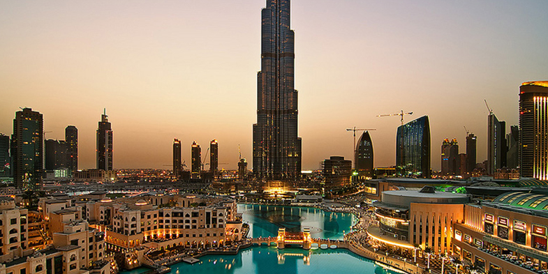 The skyscraper in Dubai, the world's largest building Burj Khalifa