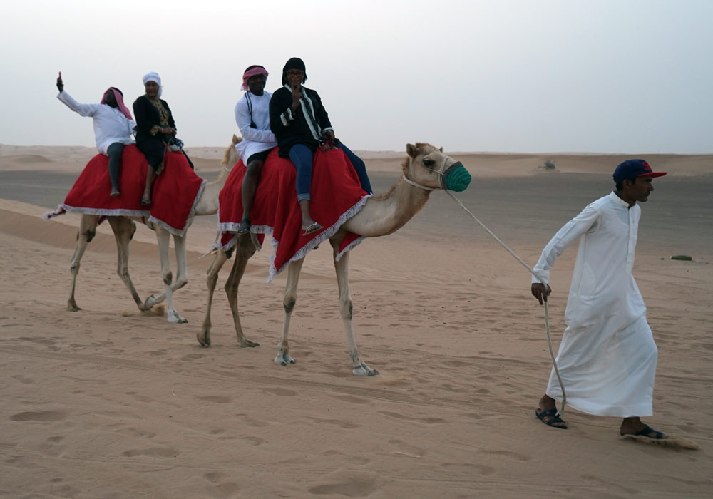 Get the feel of ancient time with the camel ride