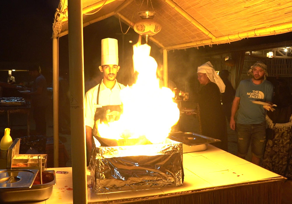 Live Cooking in the heart of Desert gives you a different experience