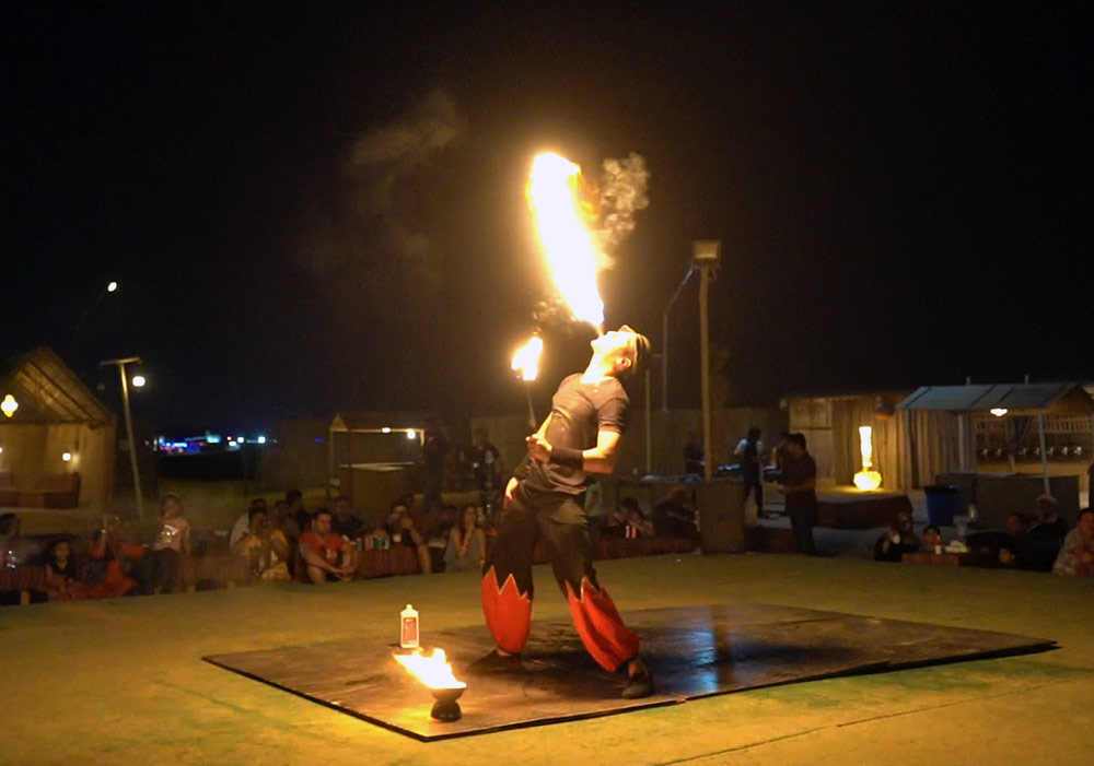 Immerse yourself with the thrills of Fire Show